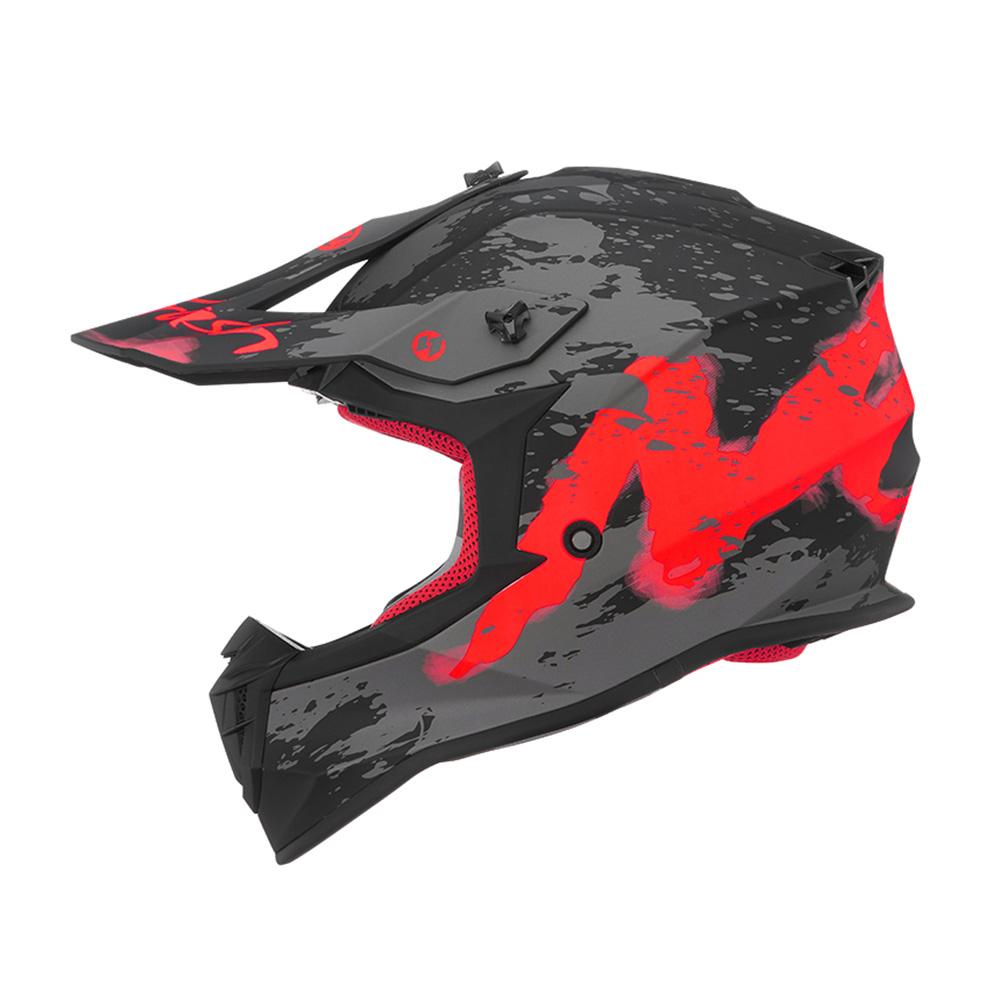 Kaciga NOX Cross 633 TRASH mat crno crvena XL
